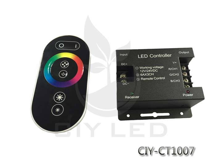 LED RGB/CCT/Single Color Controller RF touch panel remote controller